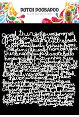 Dutch Doobadoo DDBD Mask Art 15 X 15 cm Text