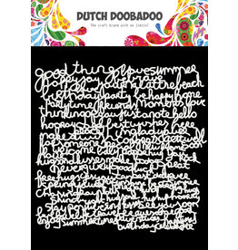 Dutch Doobadoo DDBD Mask Art 15 X 15 cm Text