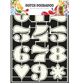Dutch Doobadoo Dutch Stencil Art A4 Numbers 3