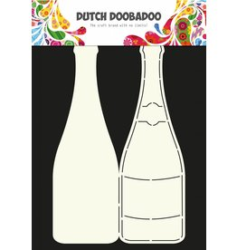 Dutch Doobadoo Dutch Card Art A4 Champagne bottle