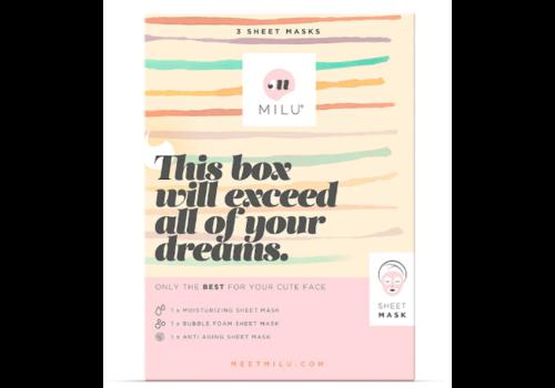 MILU 3 Sheet Maskers Gift Box