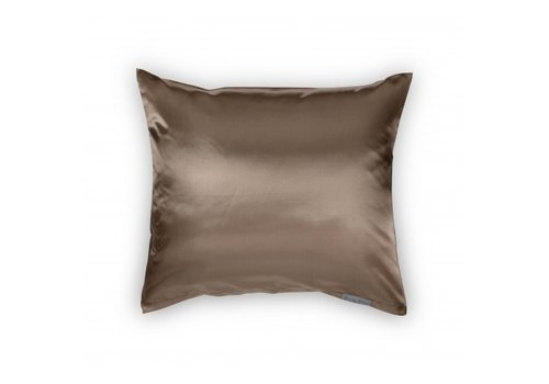 Beauty Pillow Satijnen kussensloop Taupe 60 x 70