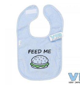 V.I.B. slabber blauw hamburger feed me