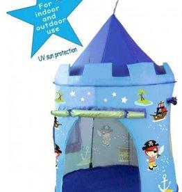 pop up tent blauw piraten