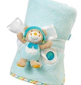Babyfehn Bon Voyage Teddy  fleecedeken met knuffeltje