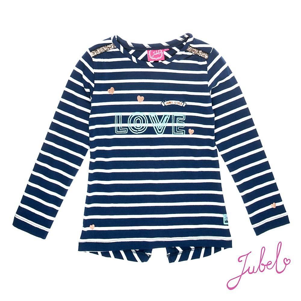 Jubel gestreept shirt L/M Love Sisterhood