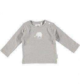 Bampidano baby grijs newborn shirt met olifant