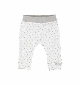 Bampidano baby newborn broekje wit met grijze aop x