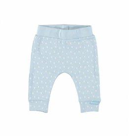 Bampidano l.blauw newborn broekje met witte aop x