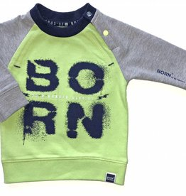 Born to be famous sweater neon yellow