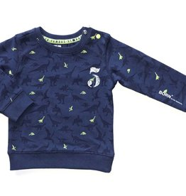 Born to be famous sweater blauw (indigo) dino's