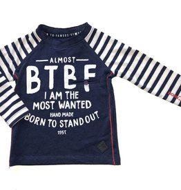 Born to be famous navy longsleeve Almost