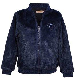 SomeOne d.blauw fluffy vest