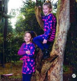 Lovestation22 jurk Lina, d.blauw / roodroze