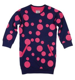 Lovestation22 jurk Trijntje d.blauw / roodroze