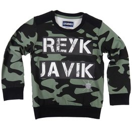 Legends22 sweater Reykjavik kaki/black