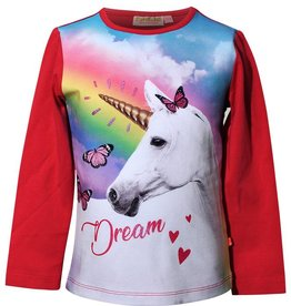 SomeOne donkerroze longsleeve unicorn