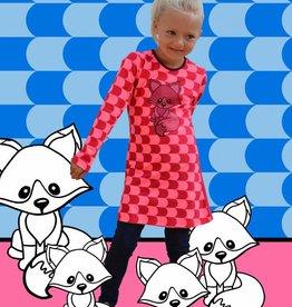 Happy Nr. 1 fox dress pinks &  bourgundy