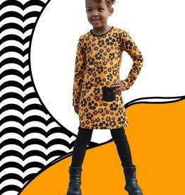 Happy Nr. 1 hearts dress bright orange & black