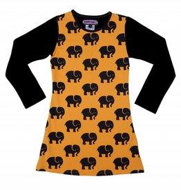 Happy Nr. 1 elephant dress bright orange & black