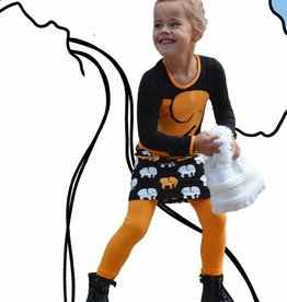 Happy Nr. 1 elephant top black bright orange & black