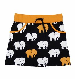 Happy Nr. 1 skirt elephant bright orange & black