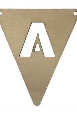houten vlagletter A