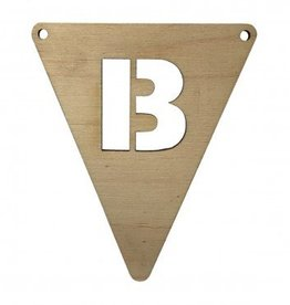 houten vlagletter B