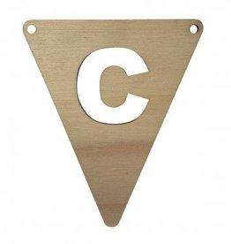houten vlagletter C