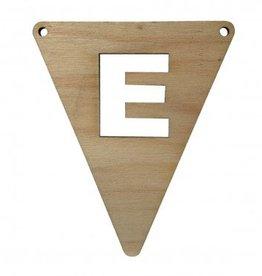 houten vlagletter E