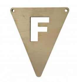 houten vlagletter F
