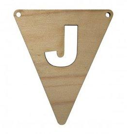houten vlagletter J