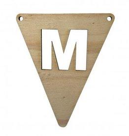 houten vlagletter M