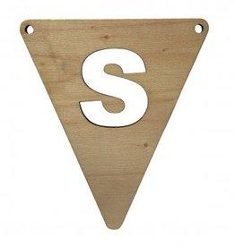 houten vlagletter S
