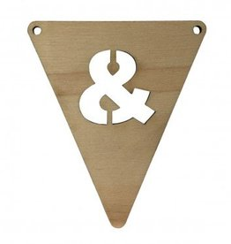 houten vlagletter &