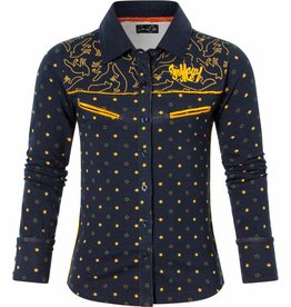 Chaos and Order Blouse Babbet navy