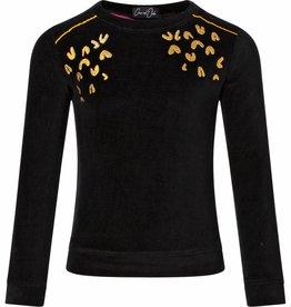 Chaos and Order velvet sweater Bodean black