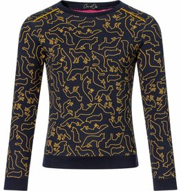 Chaos and Order Sweater Bodean navy print