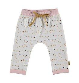 Bess Jersey Pants Confetti-White