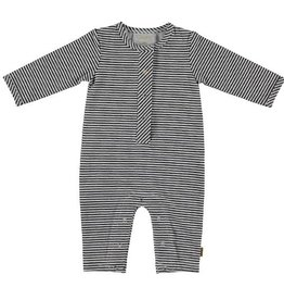 Bess gestreept boxpakje / onesie Striped-Anthracite
