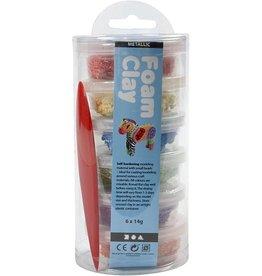 Foam Clay® kleuren assorti metallic  6x14gr