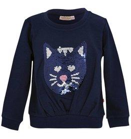 SomeOne donkerblauwe sweater poes (Cato)