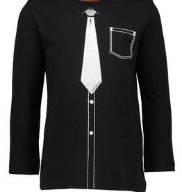 Tygo & vito zwarte longsleeve printed tie