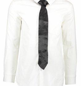 Tygo & vito witte blouse met zwarte stropdas