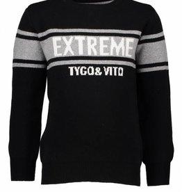 Tygo & vito zwarte gebreide trui EXTREME