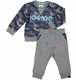 Koko Noko 2-dlg set blue camo/grey