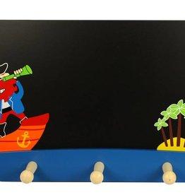 BigJigs houten kapstok / schoolbord piraat