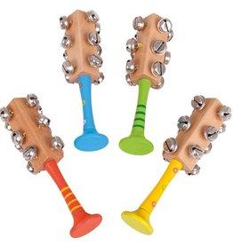 BigJigs snazzy bell stick, houten bellenrammelaar