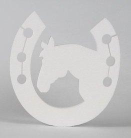 styropor /  piepschuim paardenhoofd in hoef