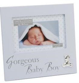 Bambino by J lichtblauw fotolijstje gorgeous baby boy
